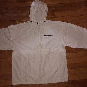 White Champion Windbreaker